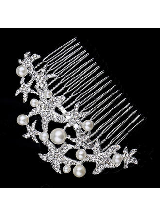"""Combs & Barrettes Wedding/Special Occasion/Party/Carnival Rhinestone/Alloy/Imitation Pearls 4.72""""(Approx.12cm) 2.36""""(Approx.6cm) Headpieces"""