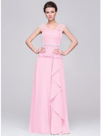 A-Linie/Princess-Linie Chiffon Mode V-Ausschnitt Kleider für die Brautmutter