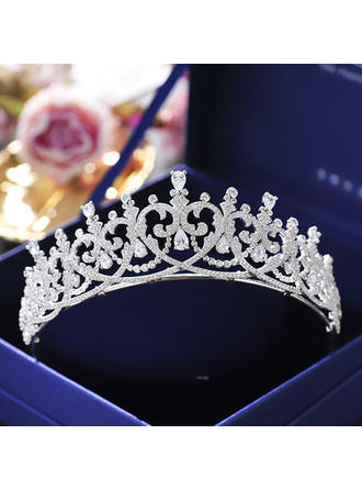 "Tiaras Wedding/Special Occasion/Casual/Outdoor/Party/Carnival/Art photography Zircon 1.77""(Approx.4.5cm) 5.71""(Approx.14.5cm) Headpieces"