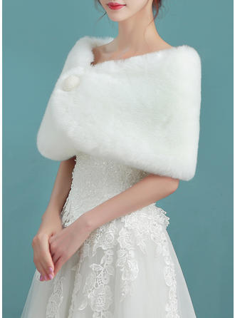 Wrap Wedding Faux Fur Ivory Wraps (013140108)