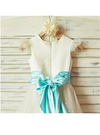 blue and yellow flower girl dresses