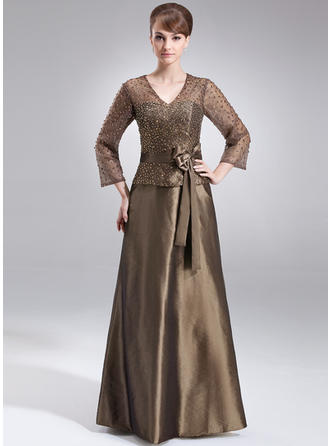 A-Line/Princess V-neck Floor-Length Mother of the Bride Dresses With Beading Sequins