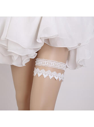 Garters Women/Bridal Wedding/Special Occasion Lace With Pearl Garter