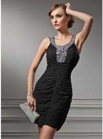 Modern Sheath/Column General Plus Chiffon Cocktail Dresses