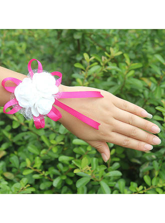 Wrist Corsage Free-Form Wedding/Party Satin (Sold in a single piece) Wedding Flowers