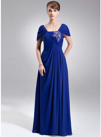 Ruffle Lace Beading Sequins Off-the-Shoulder Luxurious Chiffon Mother of the Bride Dresses