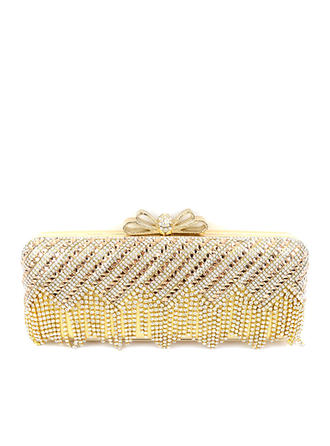 Clutches Wedding/Ceremony & Party PU Push-lock frame closure Elegant Clutches & Evening Bags