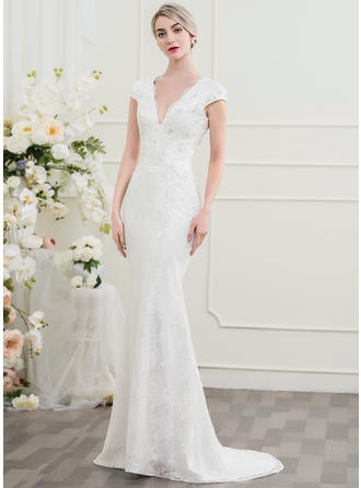 Lace Trumpet/Mermaid With Beautiful General Plus Wedding Dresses