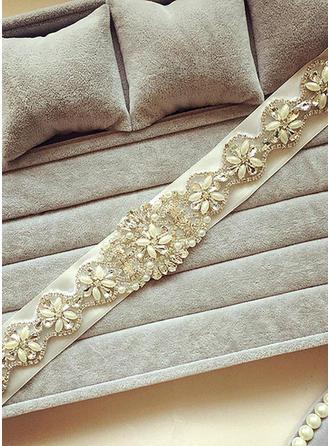 Women Ribbon With Crystal/Rhinestones Sash Unique Sashes & Belts