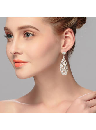 Earrings Alloy Rhinestone Ladies' Exquisite Wedding & Party Jewelry