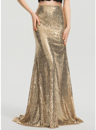 Trumpet/Mermaid Sweep Train Sequined Prom Dresses