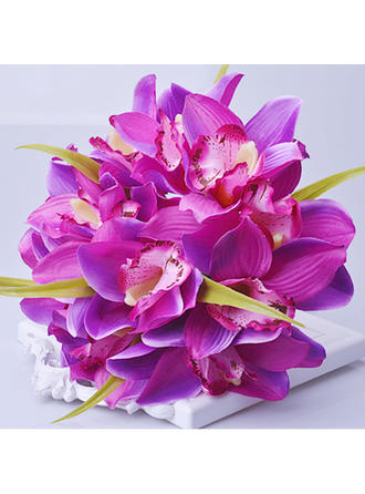 """Bridal Bouquets/Bridesmaid Bouquets Hand-tied Wedding/Party/Casual Artificial Silk 7.87""""(Approx.20cm) Wedding Flowers"""