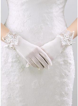 Nylon Wrist Lengte Bruids Handschoenen