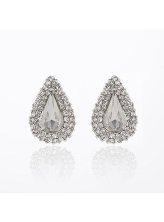 Earrings Alloy/Rhinestones Pierced Ladies' Beautiful Wedding & Party Jewelry (011167945)