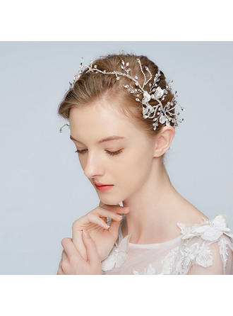 Glamourous Alloy Headbands With Rhinestone/Crystal (Sold in single piece)