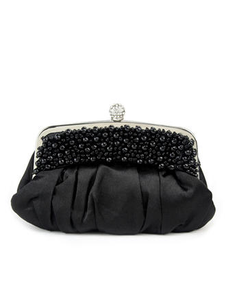 Clutches Ceremony & Party Satin Clip Closure Gorgeous Clutches & Evening Bags