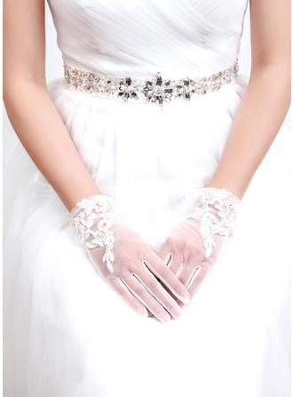 Tulle/Lace Ladies' Gloves Bridal Gloves Fingertips 22cm(Approx.8.66inch) Gloves