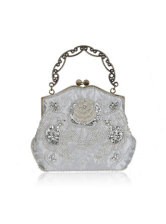 Elegante Cetim Embreagens/Bolsa de Pulso/Sacola de Viagem/Porta Moedas de Noiva/Moda Bolsas/Maquiagem Malas/Embreagens de Luxo