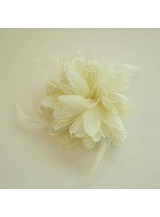 Damer Vakkert Silke blomst Pannen Smykker