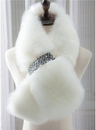 Shawl Wedding Feather/Fur Sleeveless Wraps