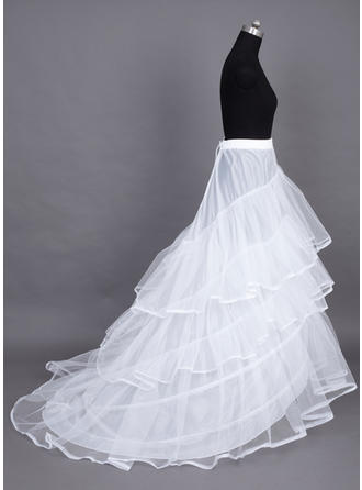 Petticoats Chapel Train Nylon/Tulle Netting Ball Gown Slip/Full Gown Slip 3 Tiers Petticoats