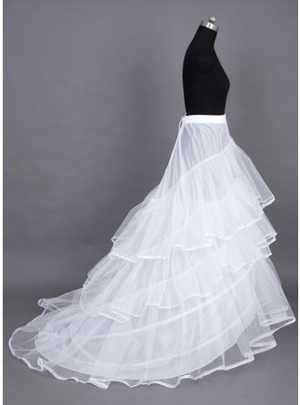 Jupons Traîne mi-longue Nylon/Tissu tulle Combinaison pour robe de bal/Combinaison complète 3 couches Jupons