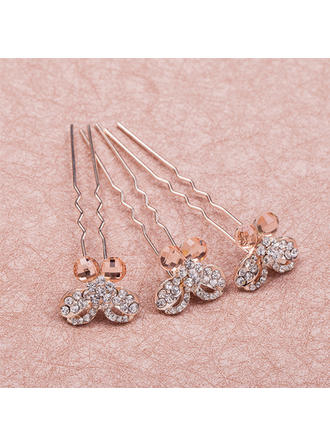 "Hairpins Wedding/Special Occasion Rhinestone/Alloy 3.35""(Approx.8.5cm) 0.98""(Approx.2.5cm) Headpieces"
