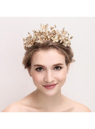 "Tiaras Wedding/Special Occasion Alloy/Imitation Pearls 15.75""(Approx.40cm) 3.15""(Approx.8cm) Headpieces"