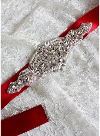 Women With Rhinestones/Imitation Pearls Sash Gorgeous Sashes & Belts