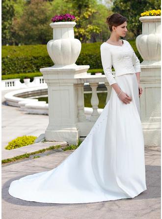 beaded lace sheath wedding dresses