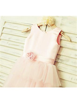 cheap chiffon flower girl dresses
