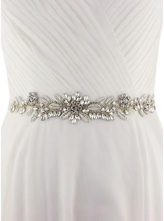 Women Satin With Crystal/Rhinestones Sash Gorgeous Sashes & Belts