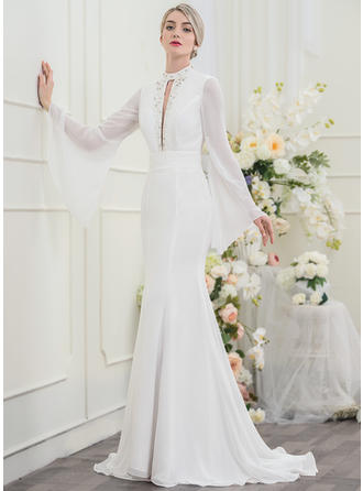 Beading Sequins Trumpet/Mermaid - Chiffon Wedding Dresses
