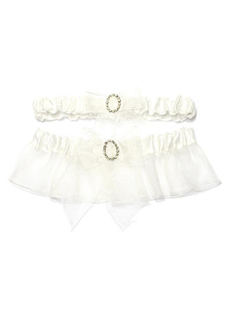 Garters Bridal Wedding/Casual Satin/Organza With Rhinestone Garter