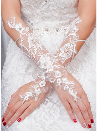 Tulle Ladies' Gloves Bridal Gloves Fingerless 35cm(Approx.13.78inch) Gloves (014192218)