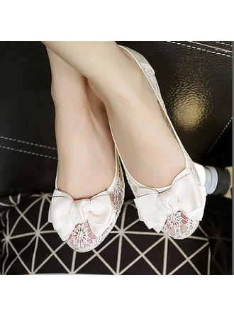 Women's Flat Heel Lace No Wedding Shoes