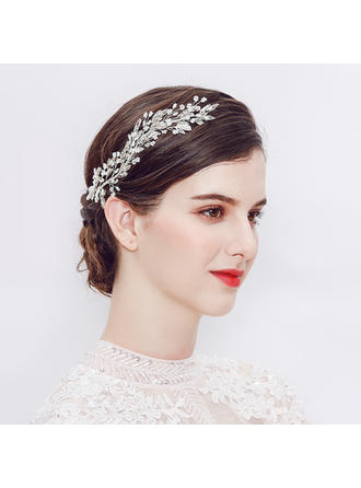 Crystal/Alloy/Imitation Pearls Headbands (Sold in single piece)