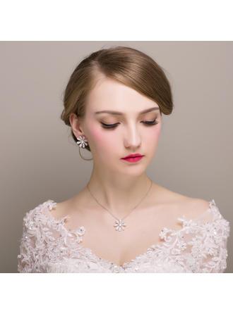 Jewelry Sets Zircon/Imitation Pearls Pierced Ladies' Charming Wedding & Party Jewelry