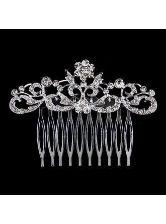 Ladies Exquisite Rhinestone/Alloy Combs & Barrettes With Rhinestone