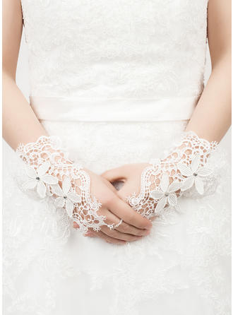 Lace Wrist Length Party/Fashion Gloves Fingerless 20cm(Approx.7.87inch) Gloves
