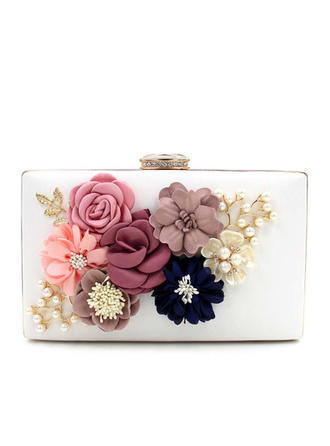 Clutches Wedding/Ceremony & Party PU Snap Closure/Kiss lock closure Elegant Clutches & Evening Bags