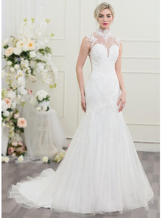 Tulle Trumpet/Mermaid Delicate Wedding Dresses