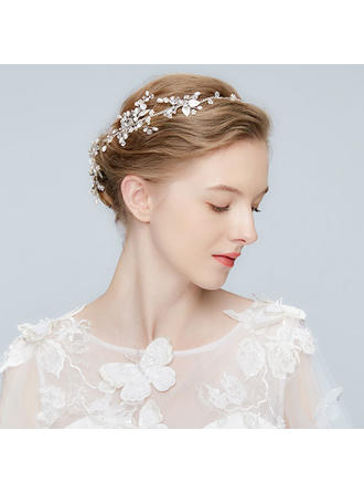 Classic Alloy Headbands With Rhinestone/Venetian Pearl/Crystal (Sold in single piece)