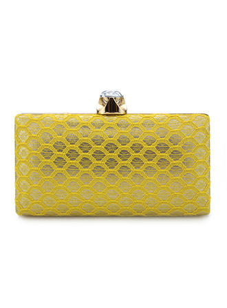 Clutches/Bridal Purse/Fashion Handbags/Makeup Bags Wedding/Ceremony & Party/Casual & Shopping/Office & Career Lace Snap Closure Elegant Clutches & Evening Bags