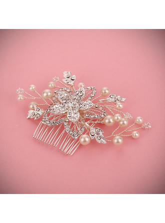 """Combs & Barrettes Wedding/Special Occasion Alloy/Imitation Pearls 3.15""""(Approx.8cm) 2.36""""(Approx.6cm) Headpieces"""