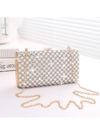 Clutches Wedding/Ceremony & Party Crystal/ Rhinestone/PU Clip Closure Fashional Clutches & Evening Bags