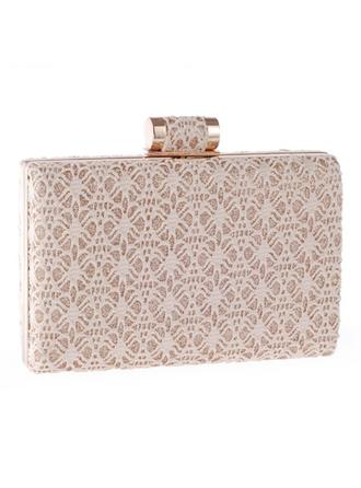 Clutches/Wristlets Wedding/Ceremony & Party Polyester/Alloy Clip Closure Elegant Clutches & Evening Bags
