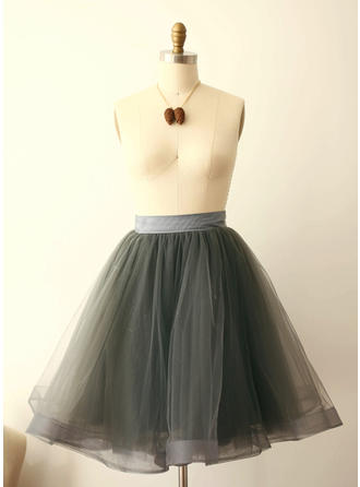Petticoats Tea-length Tulle Netting A-Line Slip Daily Wear Petticoats