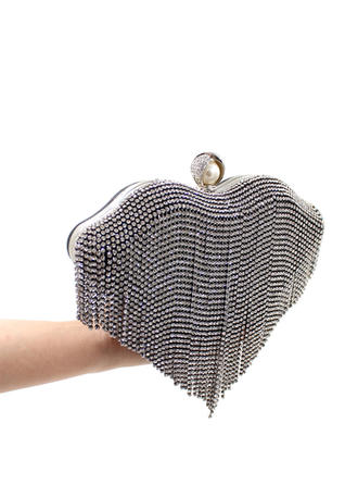 "Clutches Ceremony & Party Crystal/ Rhinestone Fashional 8.66""(Approx.22cm) Clutches & Evening Bags"