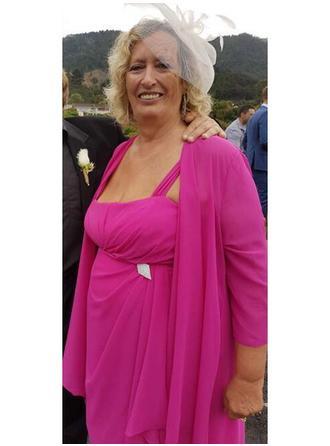A-Line/Princess Square Neckline Chiffon Modern Mother of the Bride Dresses